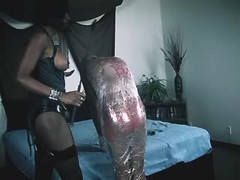 Hot fetish tgirl assfucks slave guy