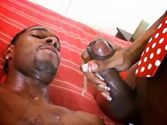Ebony tranny fucks black guy n cums